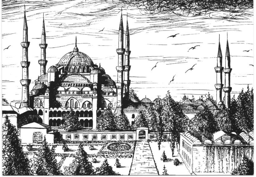 фото рисунок мечети карандашом проживания есть все