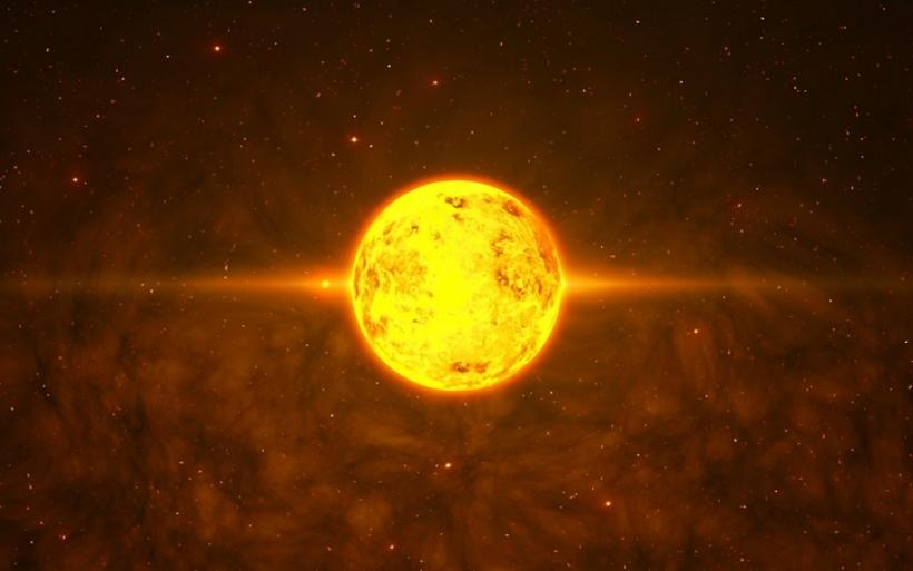 самая большое солнце на картинке мелких капелек воды