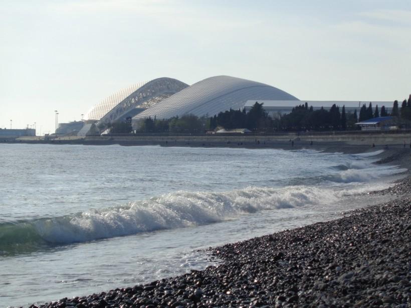 Сочи. Пляж в Олимпийском парке
