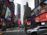 Таймс-сквер в январе