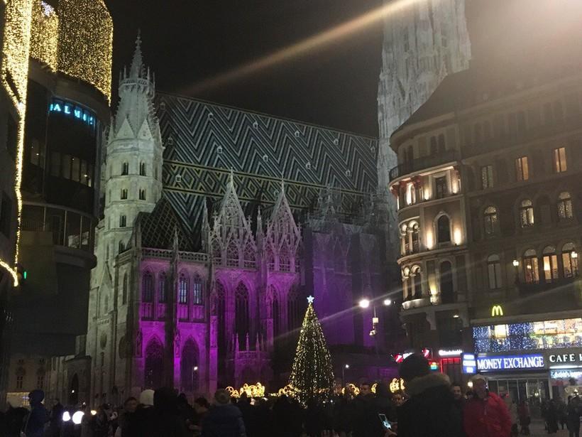 Собор Святого Стефана в Вене в декабре