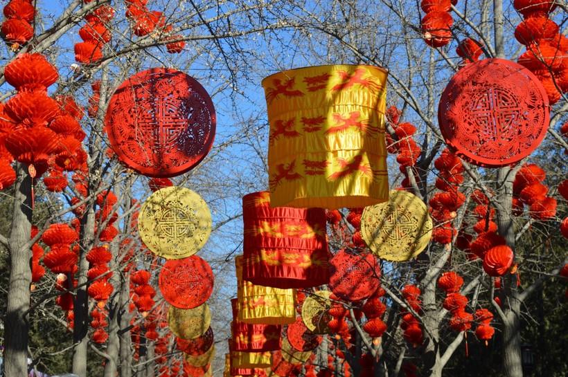 Китайский Новый год в Ditan Temple, Пекин