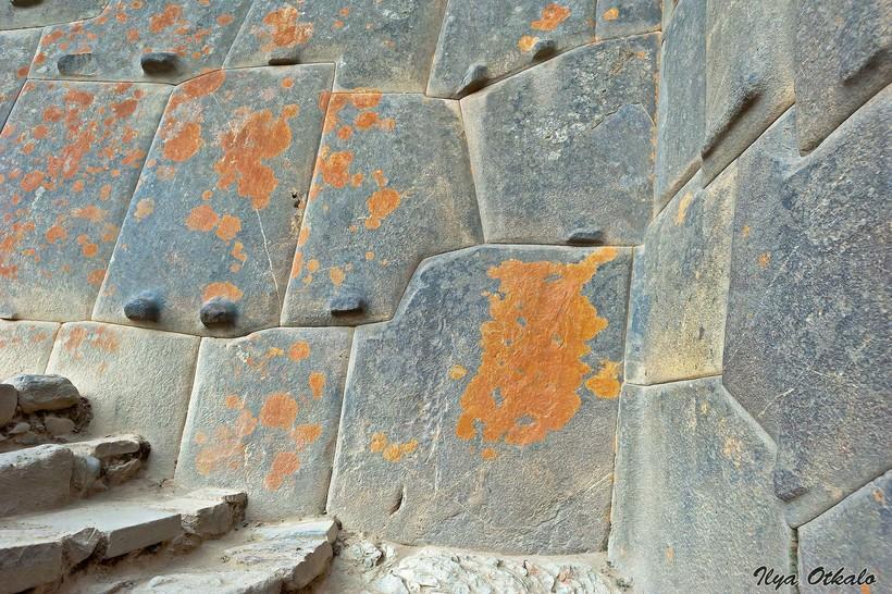 Пример полигональной кладки, Ольянтайтамбо, Перу