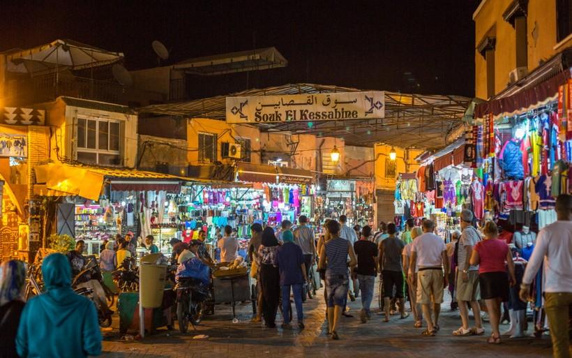 Ночной базар в Марракеше
