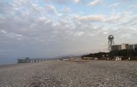 Зимний пляж в Батуми