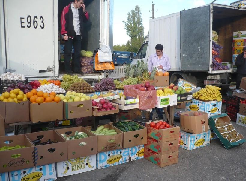 Центральный рынок в Гаграх