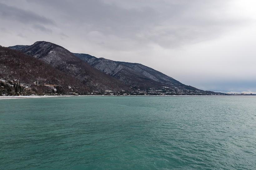 Побережье Черного моря в декабре