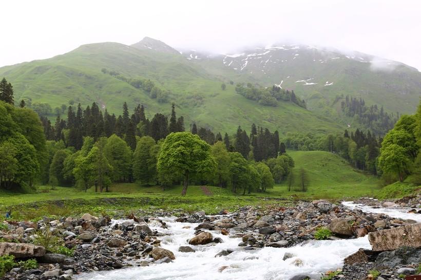 Величественные горы Абхазии