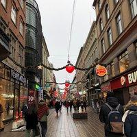 Прогулка по пешеходной улице Строгет, февраль 2018