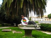 Рим. Сад возле галереи Барберини