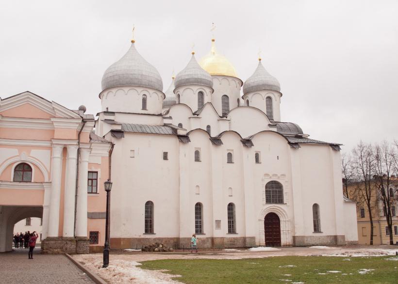 Софийский Собор в апреле. Великий Новгород.