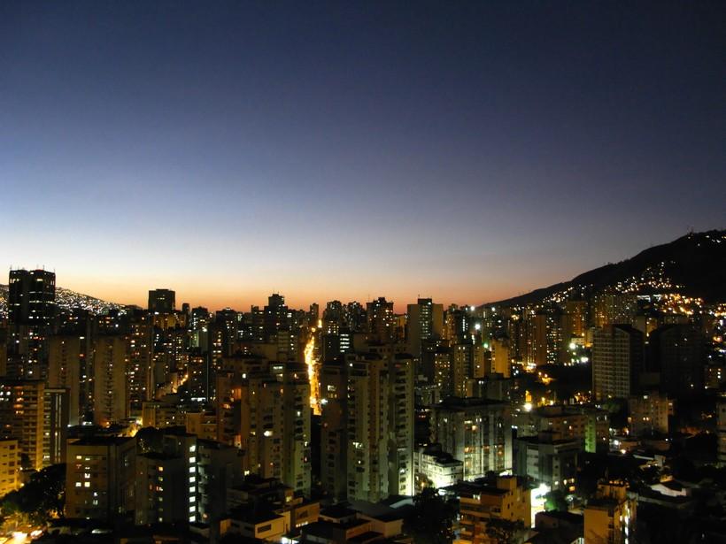 Валенсия в Венесуэле ночью