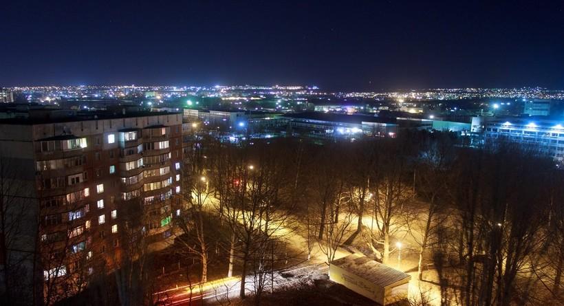 Ночной Симферополь зимой