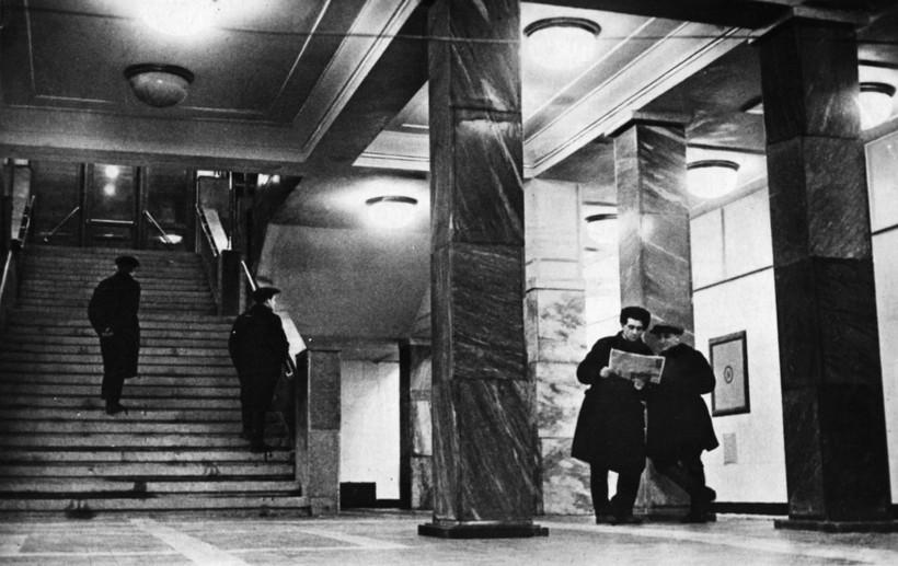 Как выглядели первые станции Московского метрополитена сразу после открытия