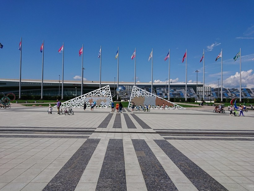 В Олимпийском парке Сочи, июнь 2018