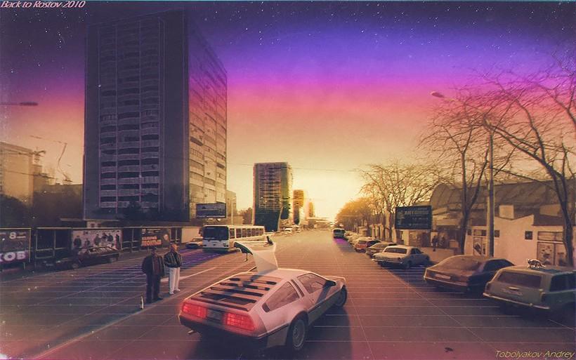 Русский художник превращает фото Google Maps и скучные города в фантастические миры