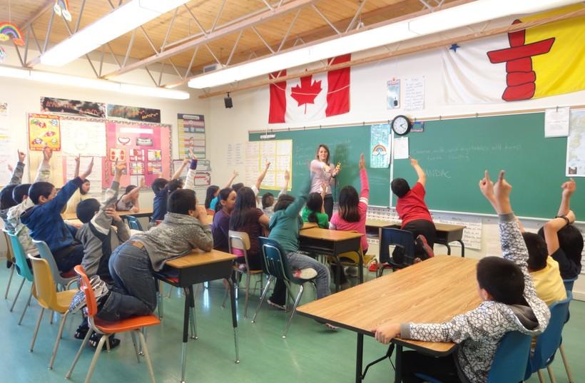 Школьный класс в Канаде