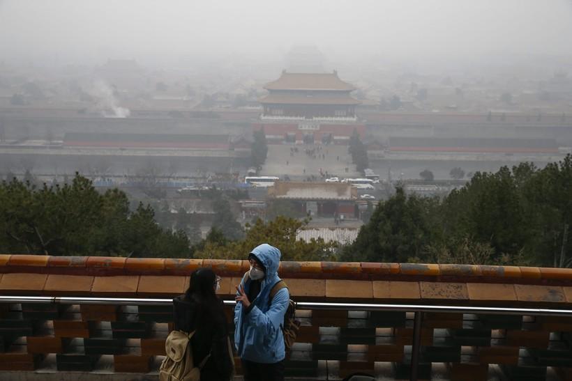 Смог в Пекине в декабре