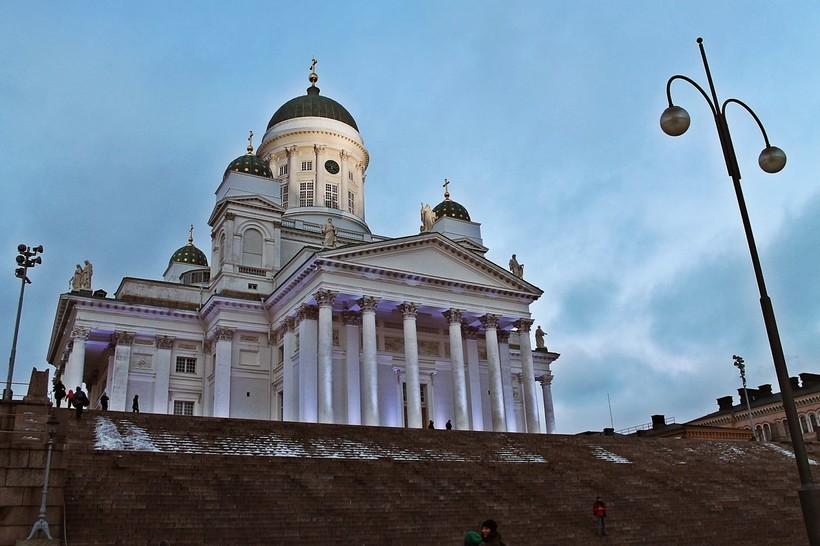 Храм Хельсинки в феврале