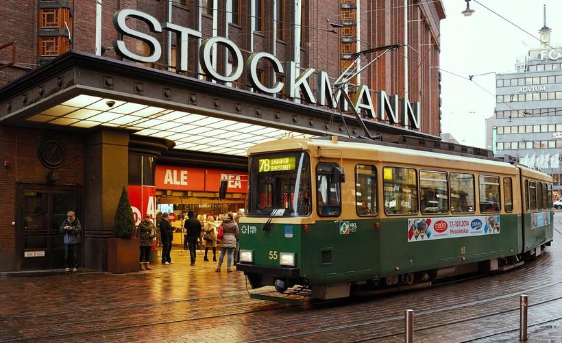Трамвай в Хельсинки в феврале