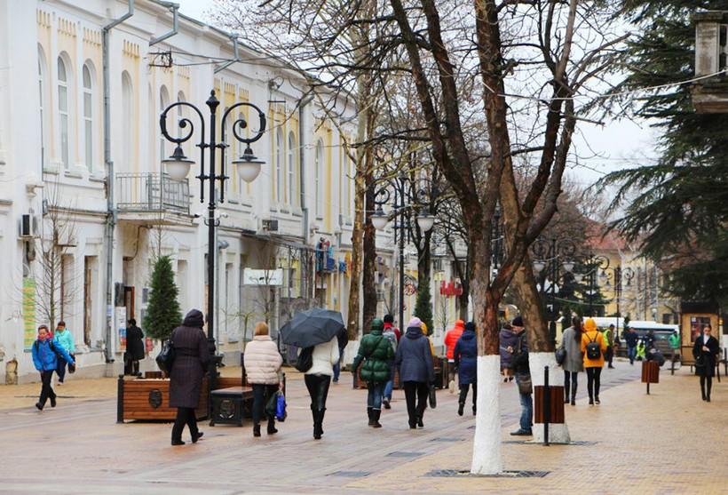 Одна из улиц Симферополя
