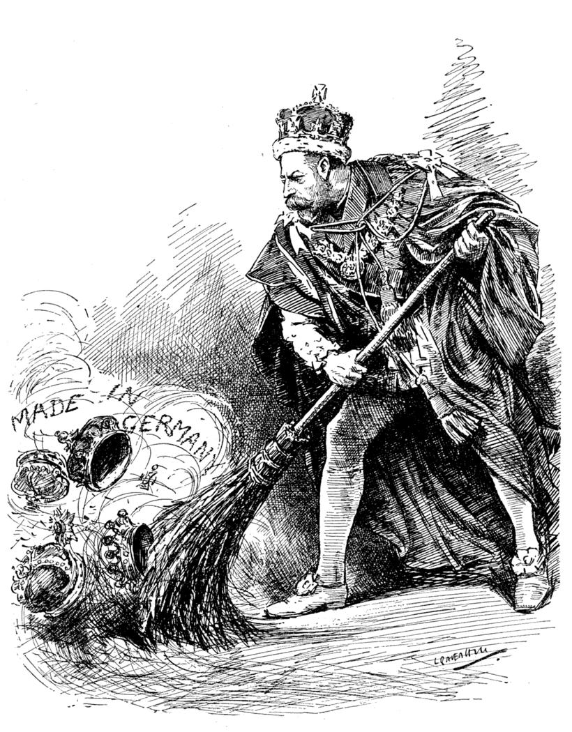 Карикатура на приказ короля о смене имени династии