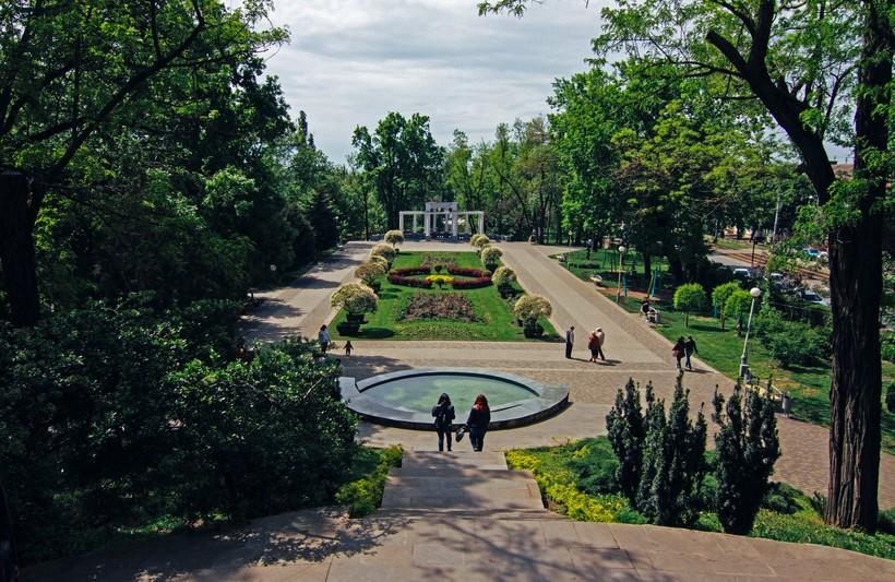 Прогулка по парковой территории в Краснодаре