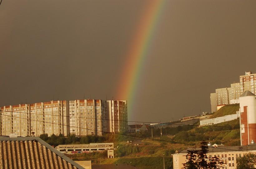 Радуга после дождя в Мурманске