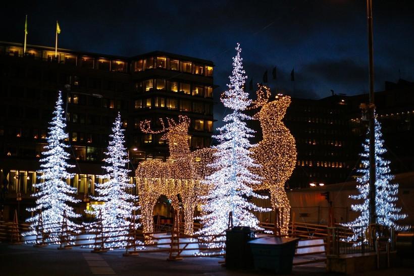 Рождественский Калининград вечером