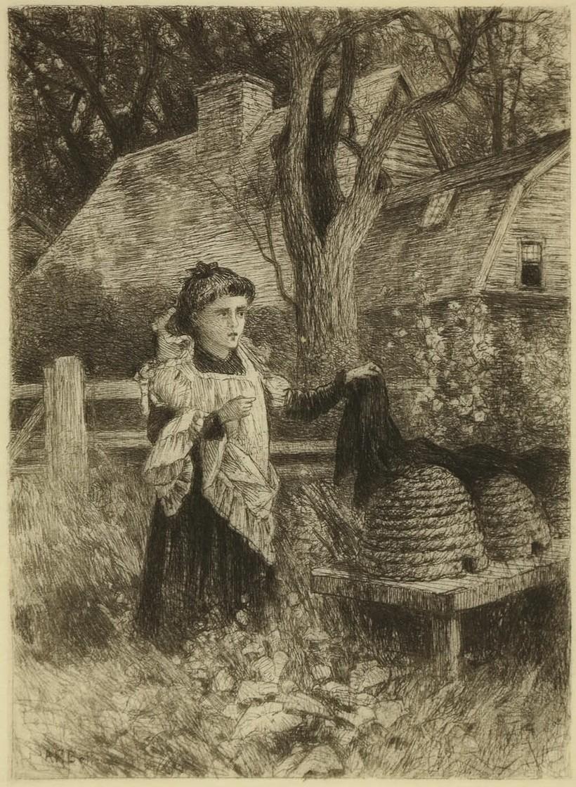 Разговор с пчелами. Художник Альберт Беллоуз, 1882