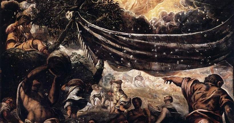 Сбор манны небесной. Тинторетто. 1577 год