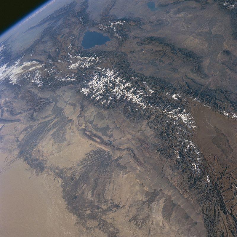 Тянь-Шань из Космоса
