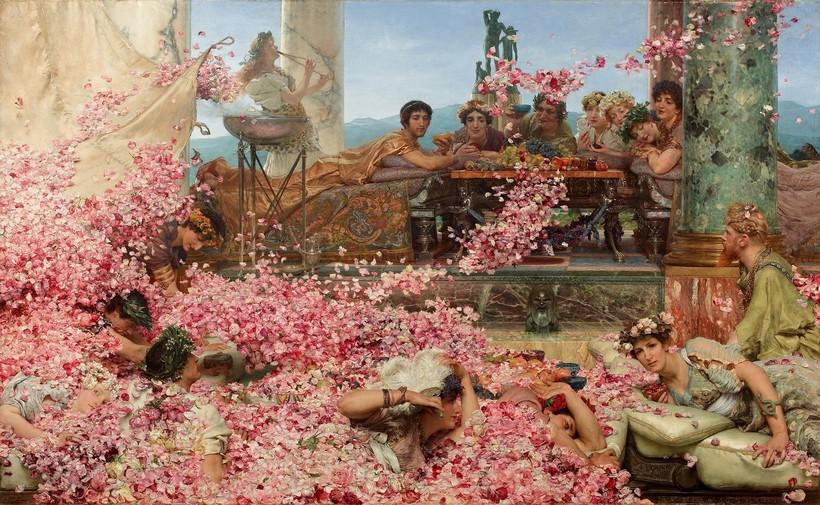 Картина «Розы Гелиогабала». Художник Лоуренс Альма-Тадема. 1888 г.