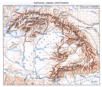 Координаты Южных Карпат