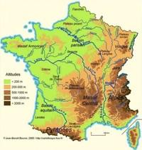 Вогезы на карте Франции