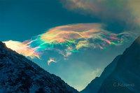 Фотограф запечатлел редкие эфирные облака в Сибири