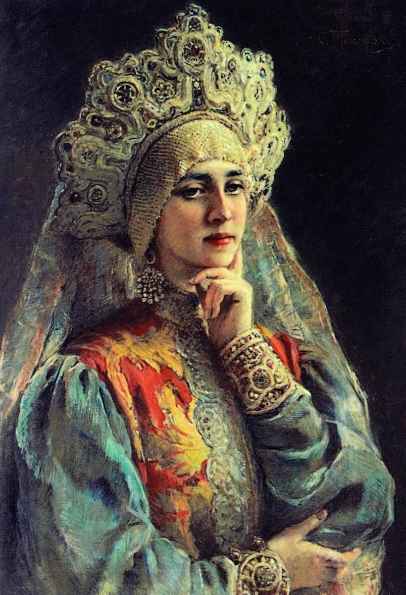 «Русская красавица», 1900-е гг. К. Маковский