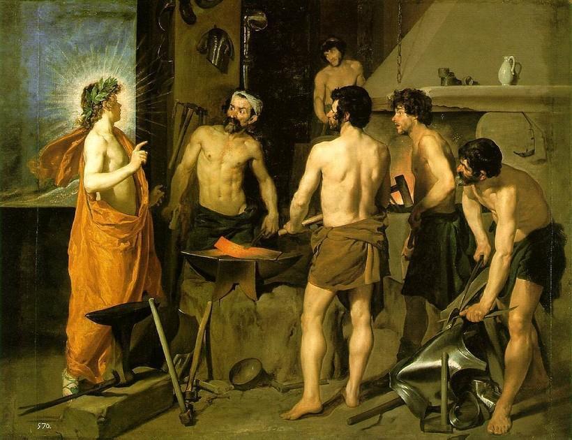 «Кузница Вулкана», 1629-1630 годы. Диего Веласкес
