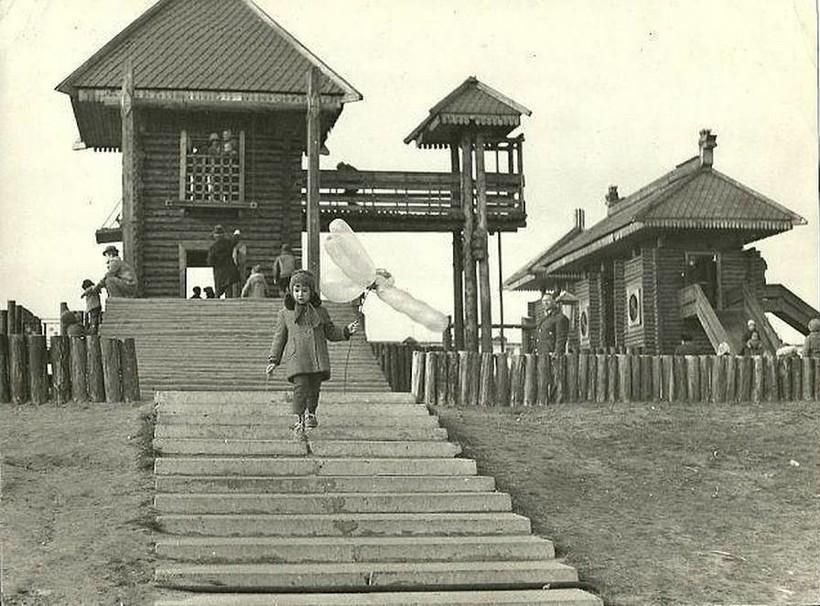 Детский городок, построенный в Днепре в 1977 году