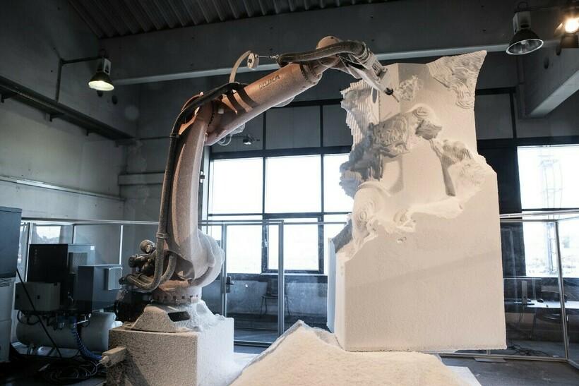 Сама задумка робота-скульптора не нова
