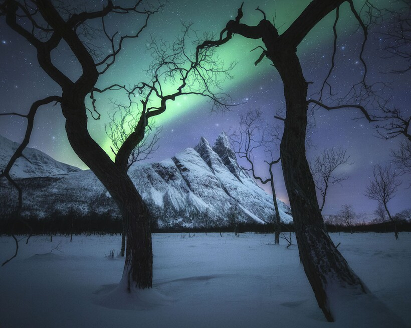 «Волшебная ночь», Норвегия, Тромсё, Кельвин Юэн. Победитель конкурса «Международный фотограф года-пейзажист»