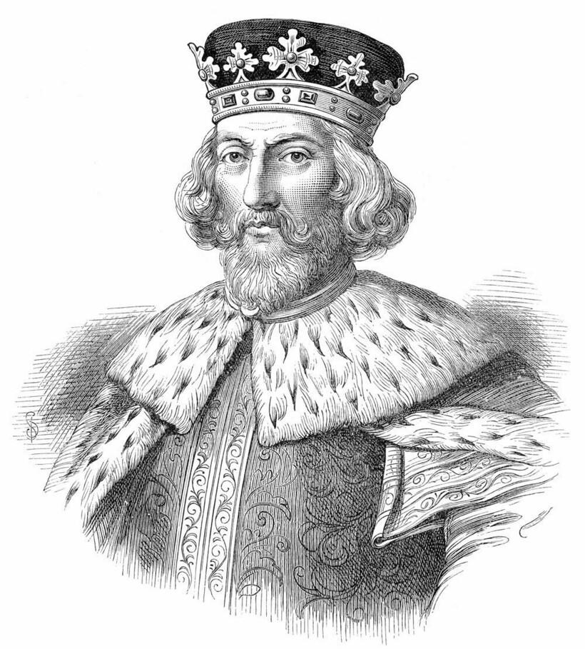 Портрет короля Джона (Иоанна) Безземельного, работа неизвестного художника