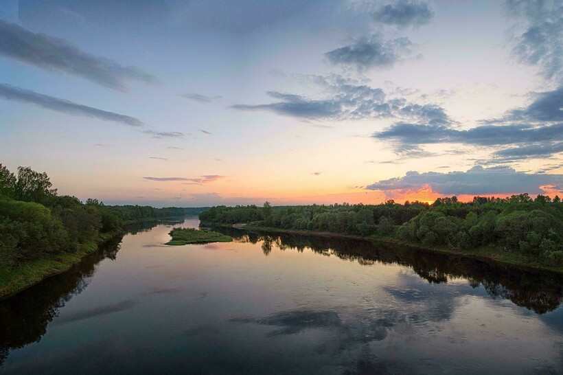 Закат на Западной Двине
