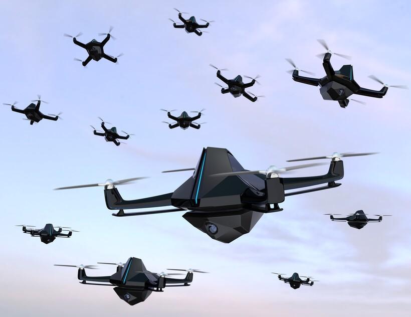 Крохотные дроны могут тоже летать стаям