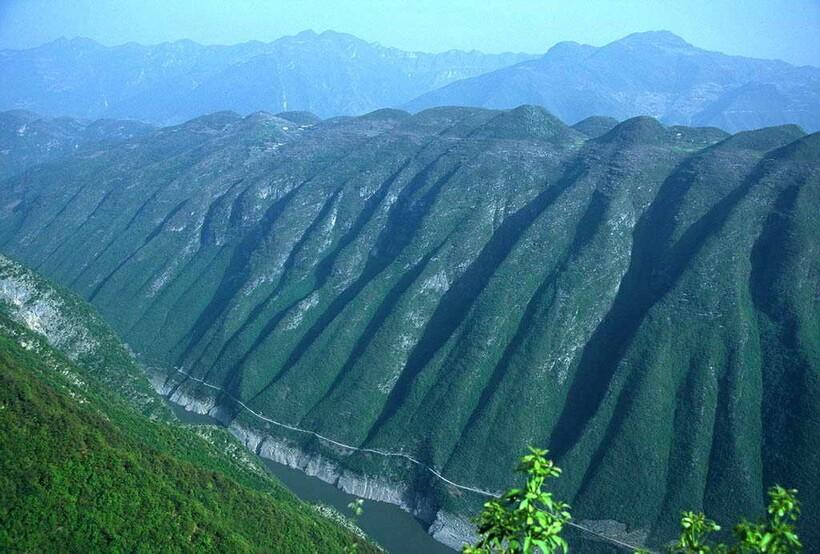 Пейзажи реки Янцзы очень необычны
