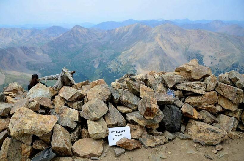 Вершина горы Эльберт