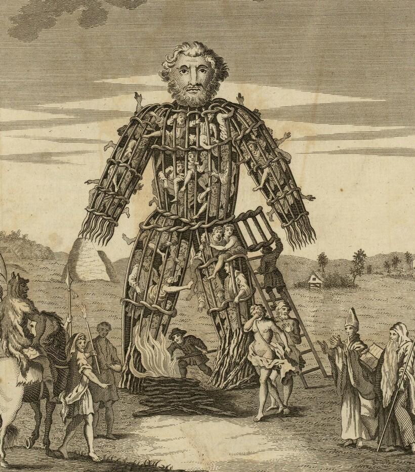 Плетеный человек, внутри которого якобы помещали людей перед казнью
