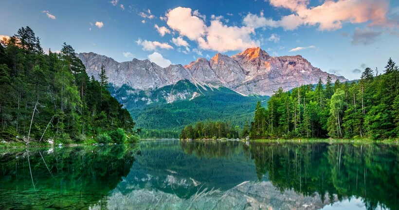 Озеро Айбзее на территории Баварии