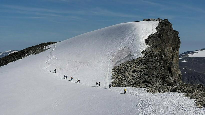 Подъем на вершину горы Галлхёпигген