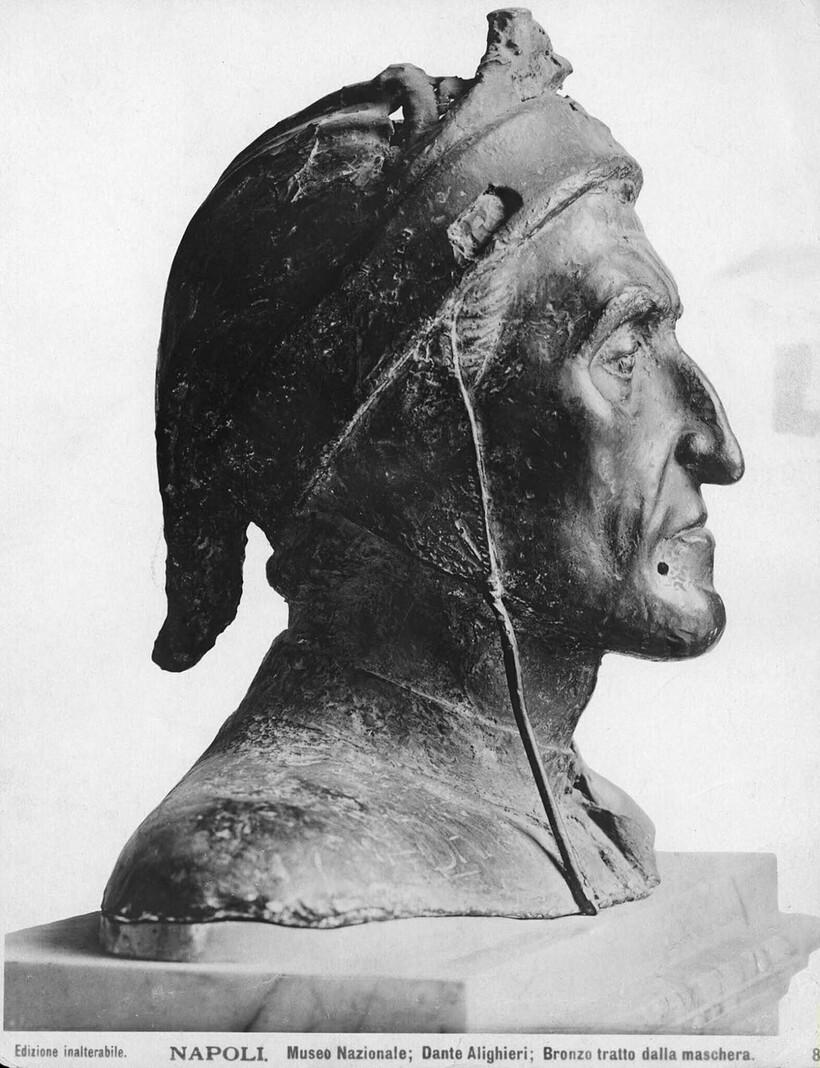 Маска Данте Алигьери, которую превратили в бюст (1265-1321)